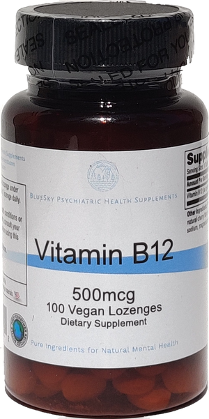 Vitamin B12 500mcg - 100 Vegan Lozenges