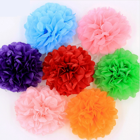 Pompoms multicolores