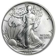 Load image into Gallery viewer, 1986 American Silver Eagle Coin
