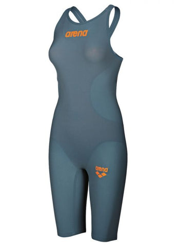 Women's Powerskin R-Evo Kneeskin Open Back Grey-Orange