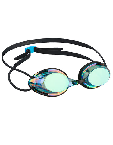 Goggle Streamline Mirror Rainbow Blue