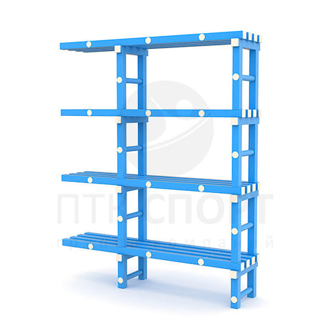Shelving unit with ledge 1510х374х1810 mm.