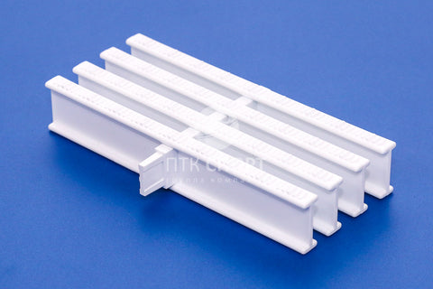 Drainage Grill Overflow grate white (1 lock) 35mm*195mm