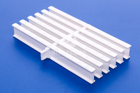 Drainage Grill Overflow grate white (1 lock) 35mm*245mm