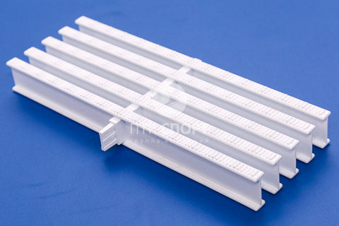 Drainage Grill Overflow grate white (1 lock) 35mm*295mm
