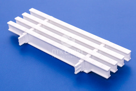 Drainage Grill Overflow grate white (2 locks) 35mm*295mm
