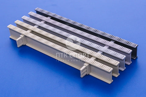 Drainage Grill Colored grating for overflow channels (2 locks) 35mm*295mm