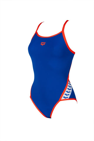 Women's Team Stripe Super Fly Back One Piece Blue - Nectarine
