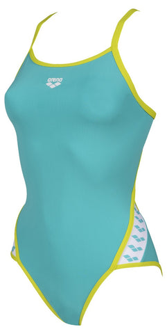 Women's Team Stripe Super Fly Back One Piece Mint - Soft Green