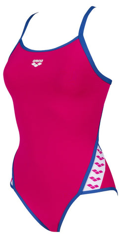 Women's Team Stripe Super Fly Back One Piece Rose - Royal