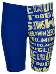 Boys' Neon Glitch Jr Jammer Neon Blue-Green Multi