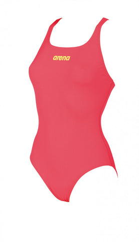 Women's Solid Swim Pro Fluo Red-Soft Green