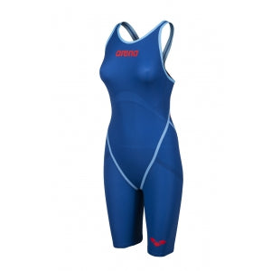 Women's Powerskin Carbon Core FX Kneeskin Openback Ocean Blue