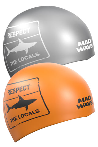 Silicone cap Respect Reversible Orange