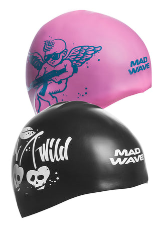 Silicone cap Stupid Cupid Reversible Pink/Black
