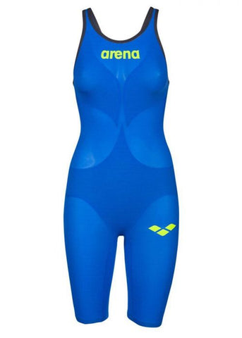 Women's Powerskin Carbon Air 2 Open Back Kneesuit Blue-Yellow