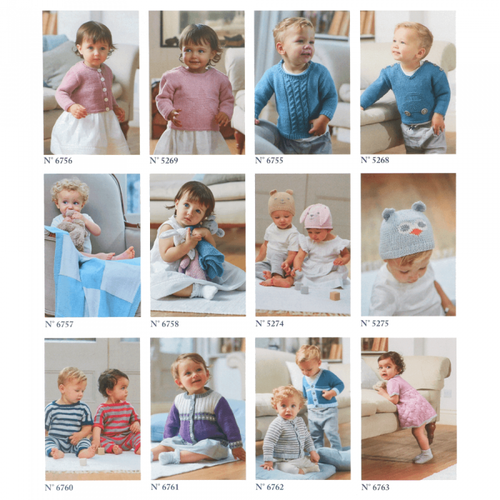 DMC Baby Cotton Patterns with12 individual Patterns