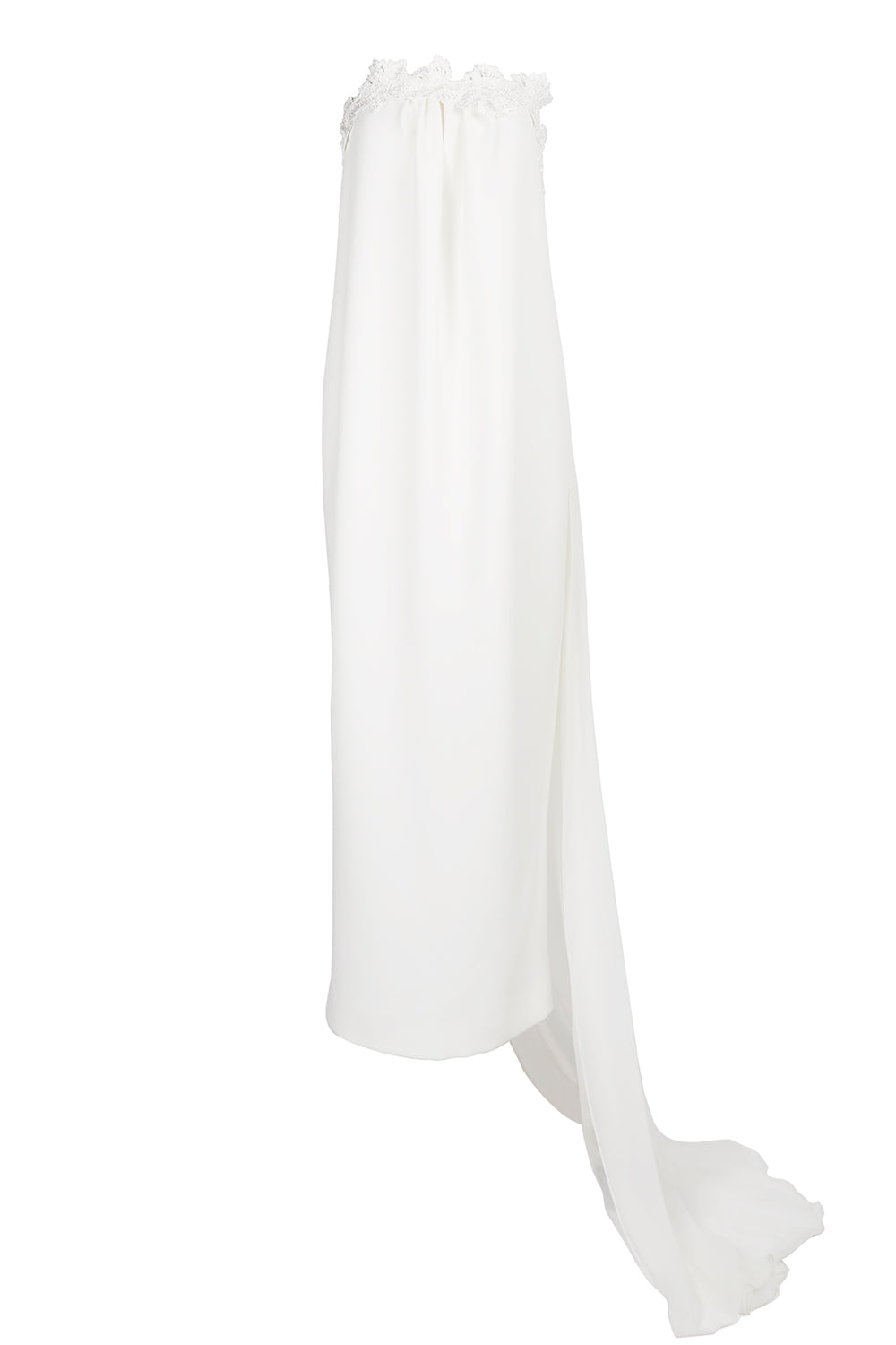 Grace's Garden Crepe Gown With Detachable Chiffon Train