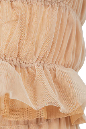 Hannah's Blush French Tulle Top And Skirt