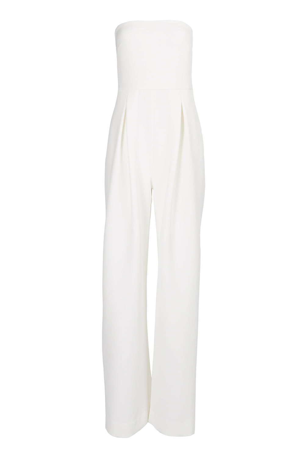 Pleated Crepe Jumpsuit