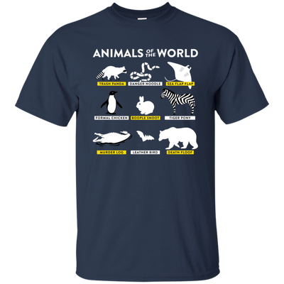 Animals Of The World Shirt - Navy - Shipping Worldwide - NINONINE