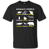 Animals Of The World Shirt - Black - Shipping Worldwide - NINONINE