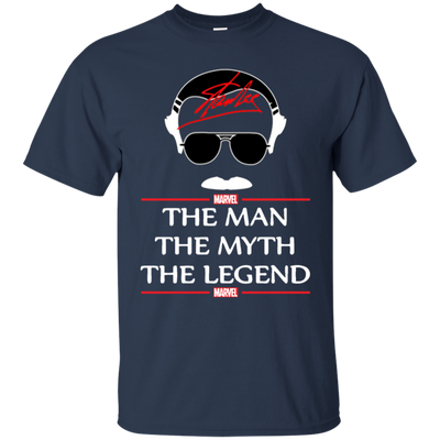 Stan Lee The Man The Myth The Legend Shirt - Navy - Shipping Worldwide - NINONINE