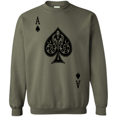 Ace Of Spades Sweater Light - Military Green - Shipping Worldwide - NINONINE