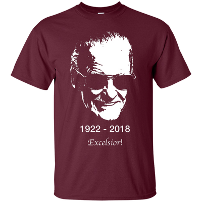 Stan Lee Shirt - Maroon - Shipping Worldwide - NINONINE