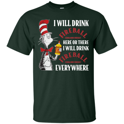 Cat In The Hat Fireball Shirt - Forest - Shipping Worldwide - NINONINE