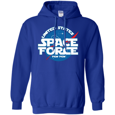 United States Space Force Pew Pew Hoodie - Royal - Shipping Worldwide - NINONINE