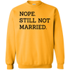 Nope Still Not Married Sweater Light - Gold - Shipping Worldwide - NINONINE