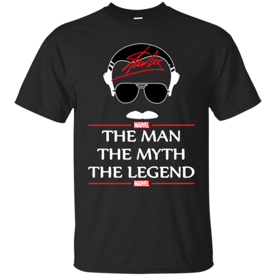 Stan Lee The Man The Myth The Legend Shirt - Black - Shipping Worldwide - NINONINE