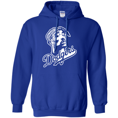 Tupac Dodgers Hoodie - Royal - Shipping Worldwide - NINONINE