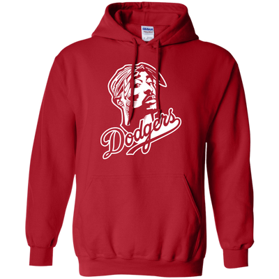 Tupac Dodgers Hoodie - Red - Shipping Worldwide - NINONINE