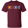 Moschino Colorful Shirt - Maroon - Worldwide Shipping - NINONINE