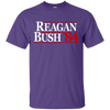 Reagan Bush T Shirt - Purple - Shipping Worldwide - NINONINE
