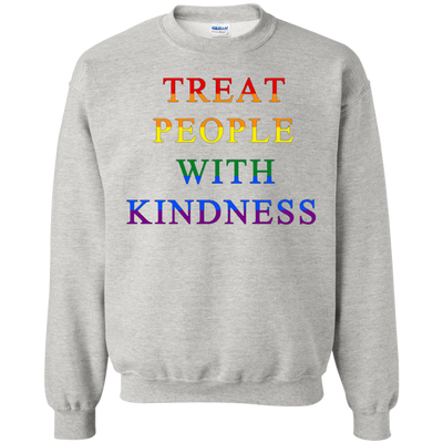 Treat People With Kindness Sweater Pride - Ash - Shipping Worldwide - NINONINE