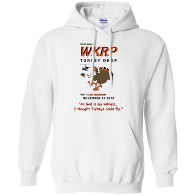 Wkrp Turkey Drop Hoodie 2 - White - Shipping Worldwide - NINONINE
