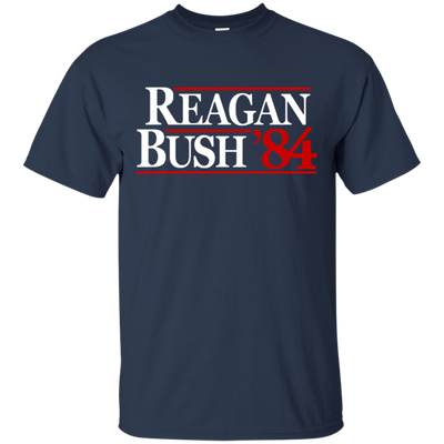 Reagan Bush T Shirt - Navy - Shipping Worldwide - NINONINE