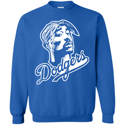 Tupac Dodgers Sweater - Royal - Shipping Worldwide - NINONINE