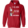 Cat In The Hat Fireball Hoodie - Red - Shipping Worldwide - NINONINE