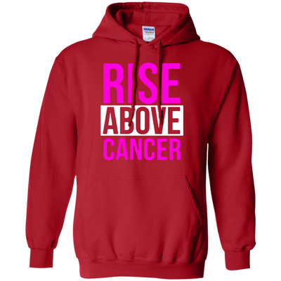 Rise Above Cancer Hoodie - Red - Shipping Worldwide - NINONINE