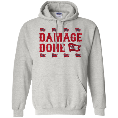 Damage Done Hoodie Red Sox Champion 2018 - Ash - Shipping Worldwide - NINONINE