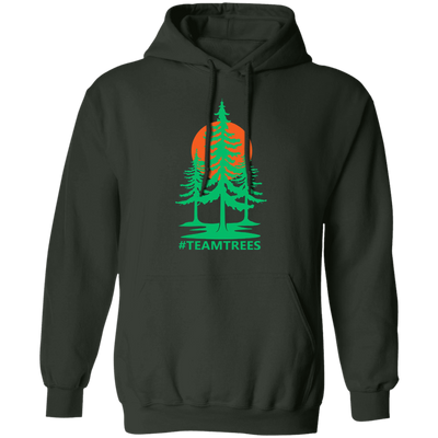 Team Trees Hoodie - Forest Green - Worldwide Shipping - NINONINE
