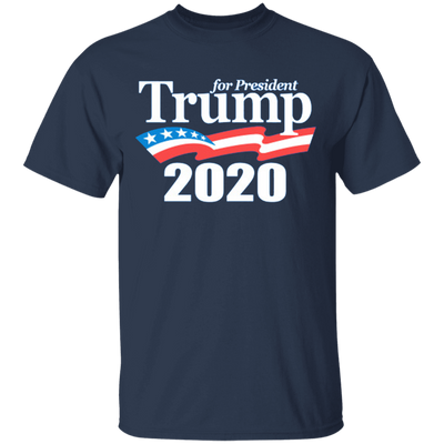 Trump 2020 T Shirt - Navy - Worldwide Shipping - NINONINE