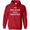 My Anxieties Have Anxieties Hoodie - Red - Shipping Worldwide - NINONINE