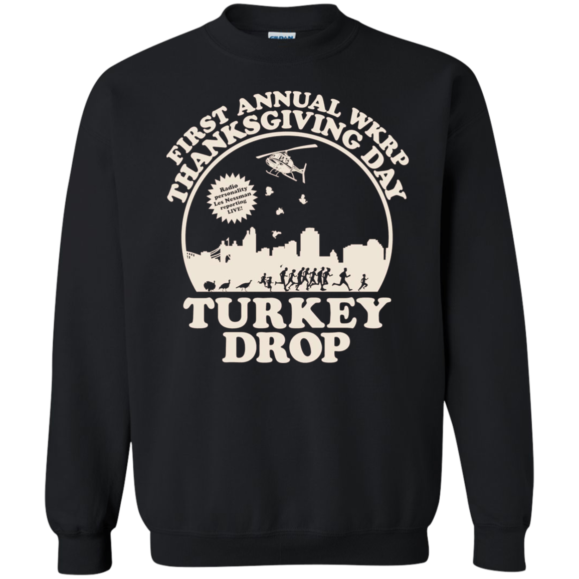 Wkrp Turkey Drop Sweater