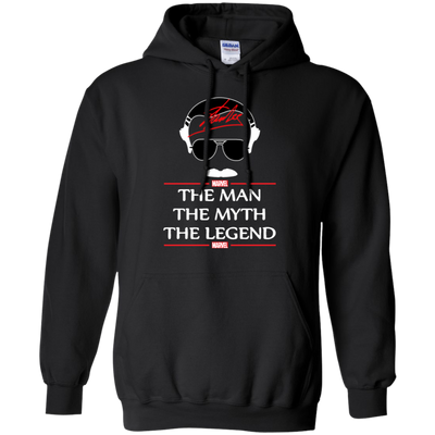 Stan Lee The Man The Myth The Legend Hoodie - Black - Shipping Worldwide - NINONINE