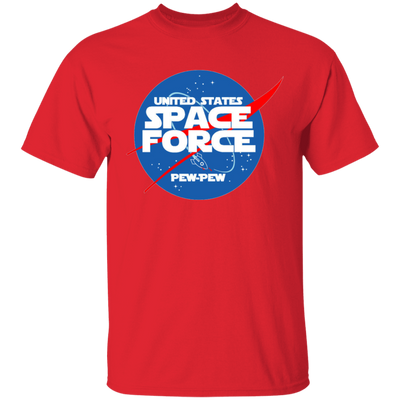 Space Force T Shirt - Red - Worldwide Shipping - NINONINE